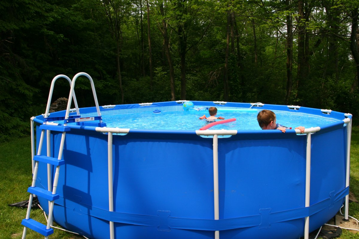 How to care for and chlorinate an intex metal frame pool dengarden - Steel frame pool ...