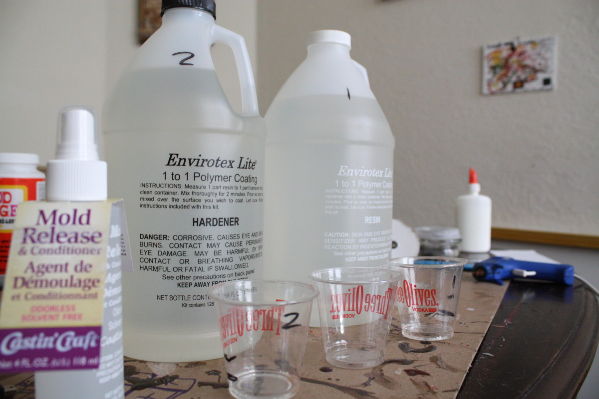 Envirotex Resin bottles