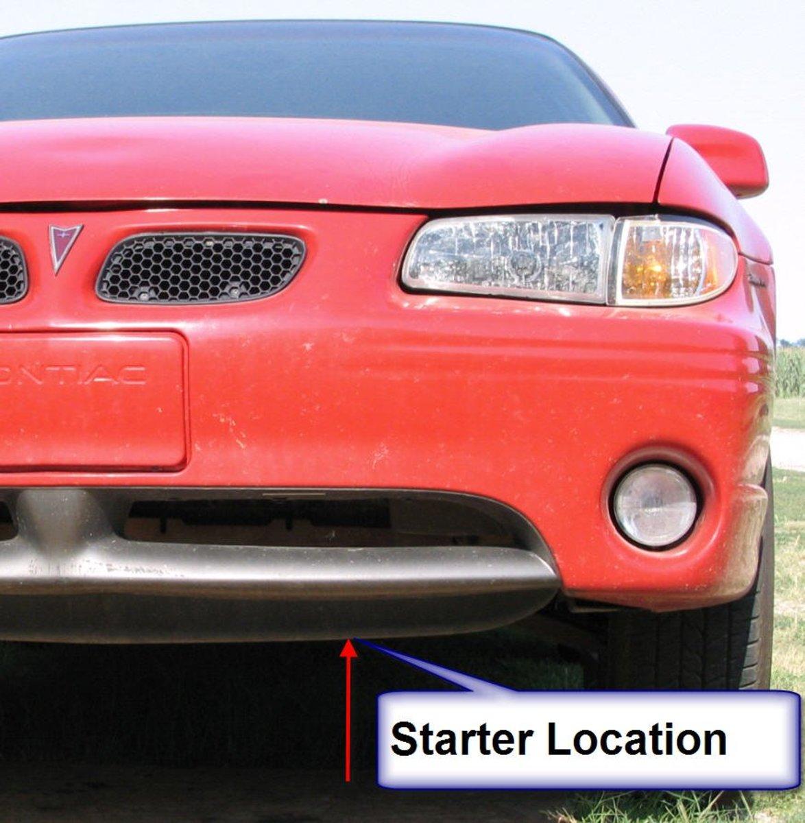 Starter Removal:  1999 Pontiac Grand Prix