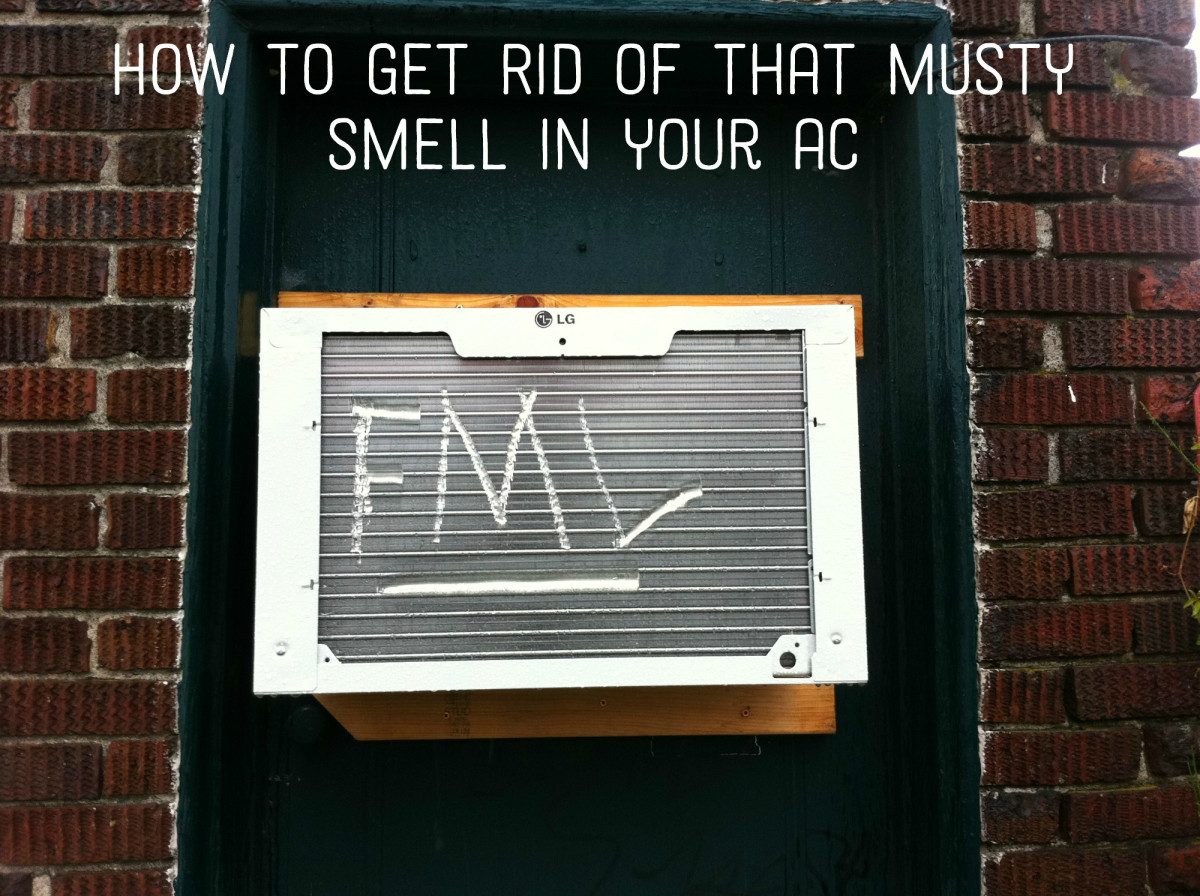 how to remove a mildew smell from a window air conditioner. Black Bedroom Furniture Sets. Home Design Ideas