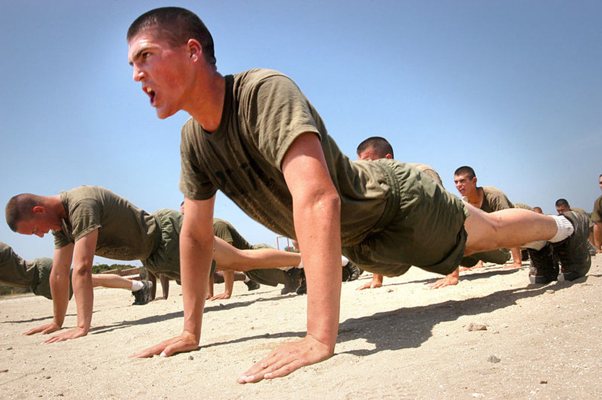 How much weight are you lifting during a push-up?