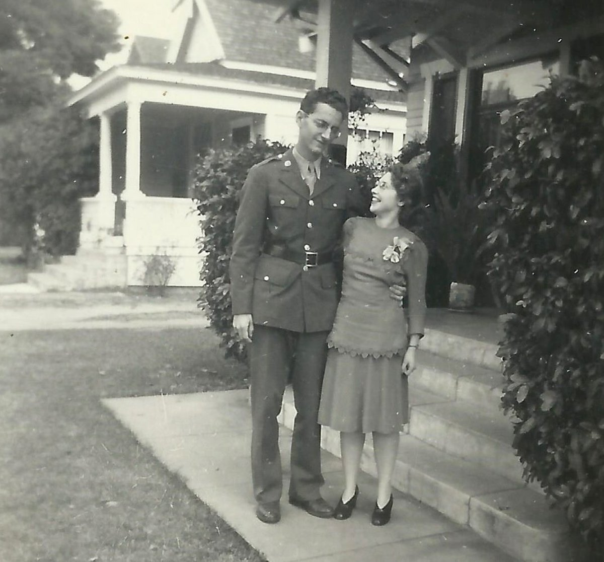 Newlyweds, December 1942 - Two newly married pharmacists prior to Jack's deployment during WWII