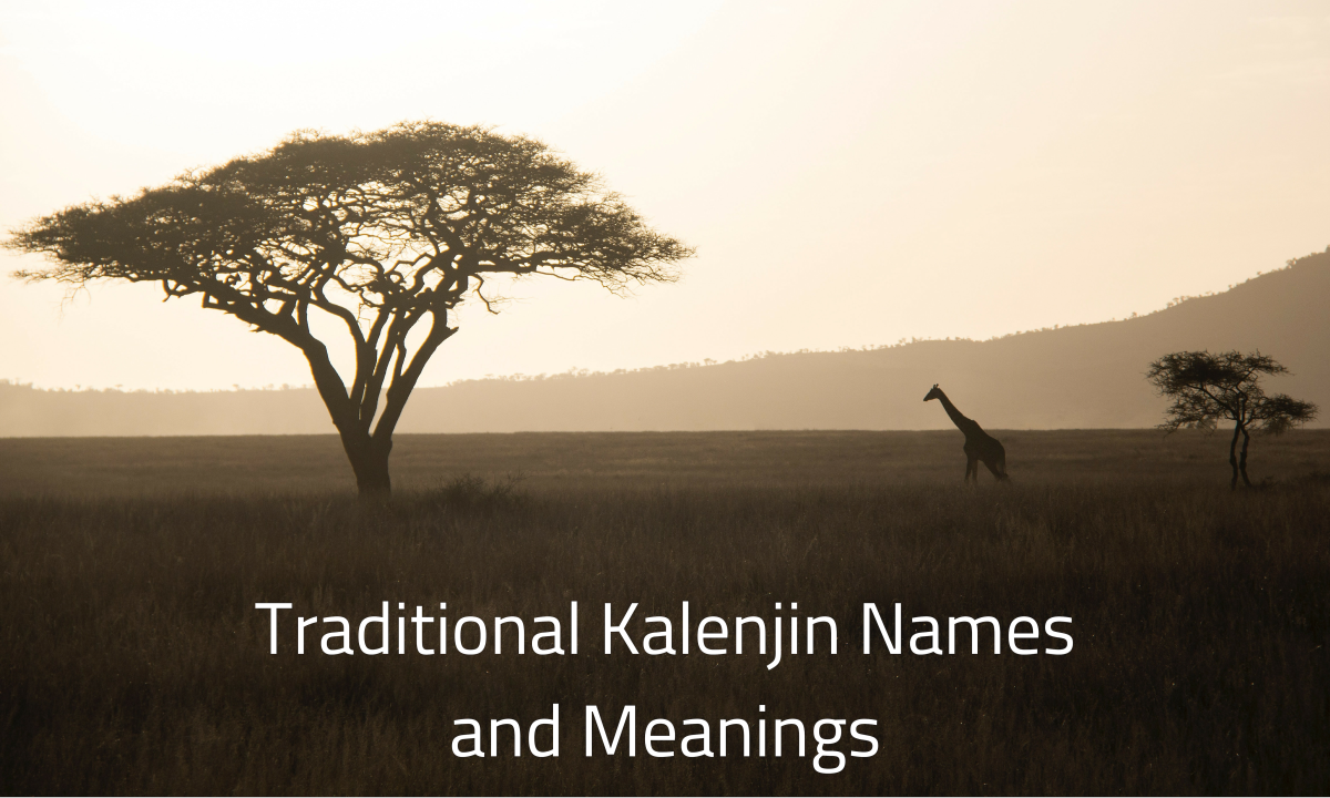 The Kalenjin culture has a pretty unique way of naming their children.