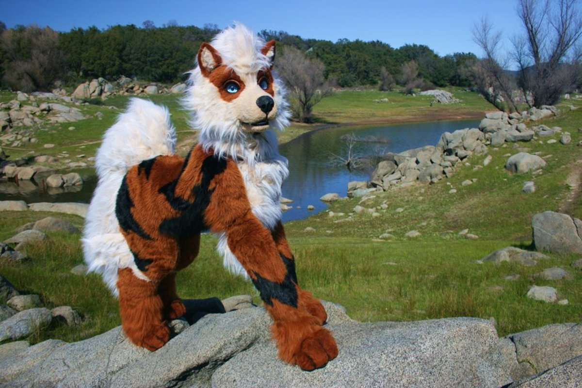 a beautiful Arcanine quadsuit made by Beastcub