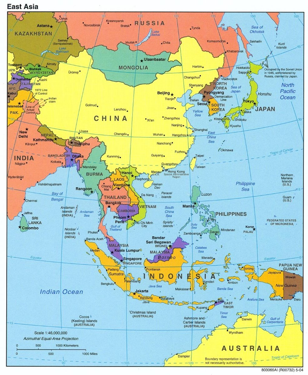 East Asian and Southeast Asian Countries