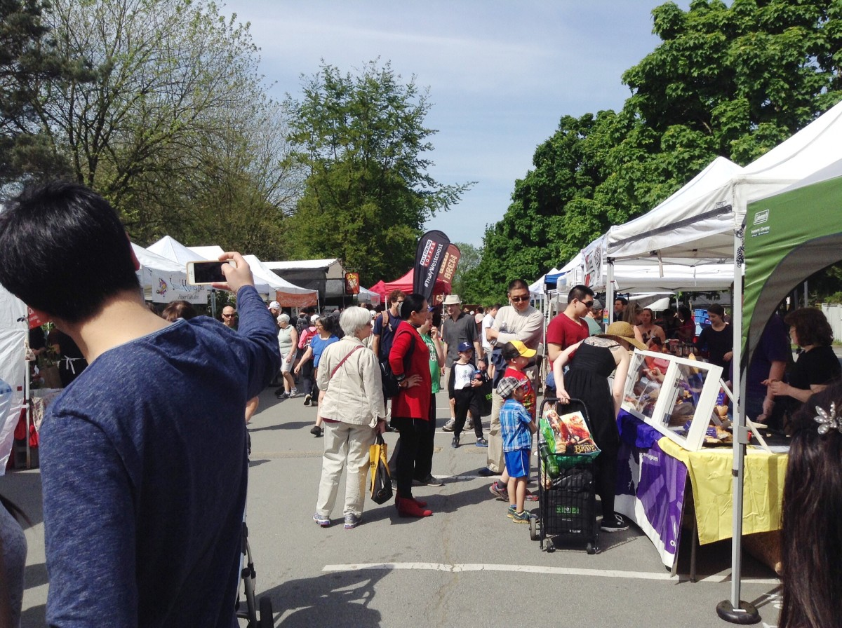The Trout Lake Farmers Market in Vancouver, British Columbia