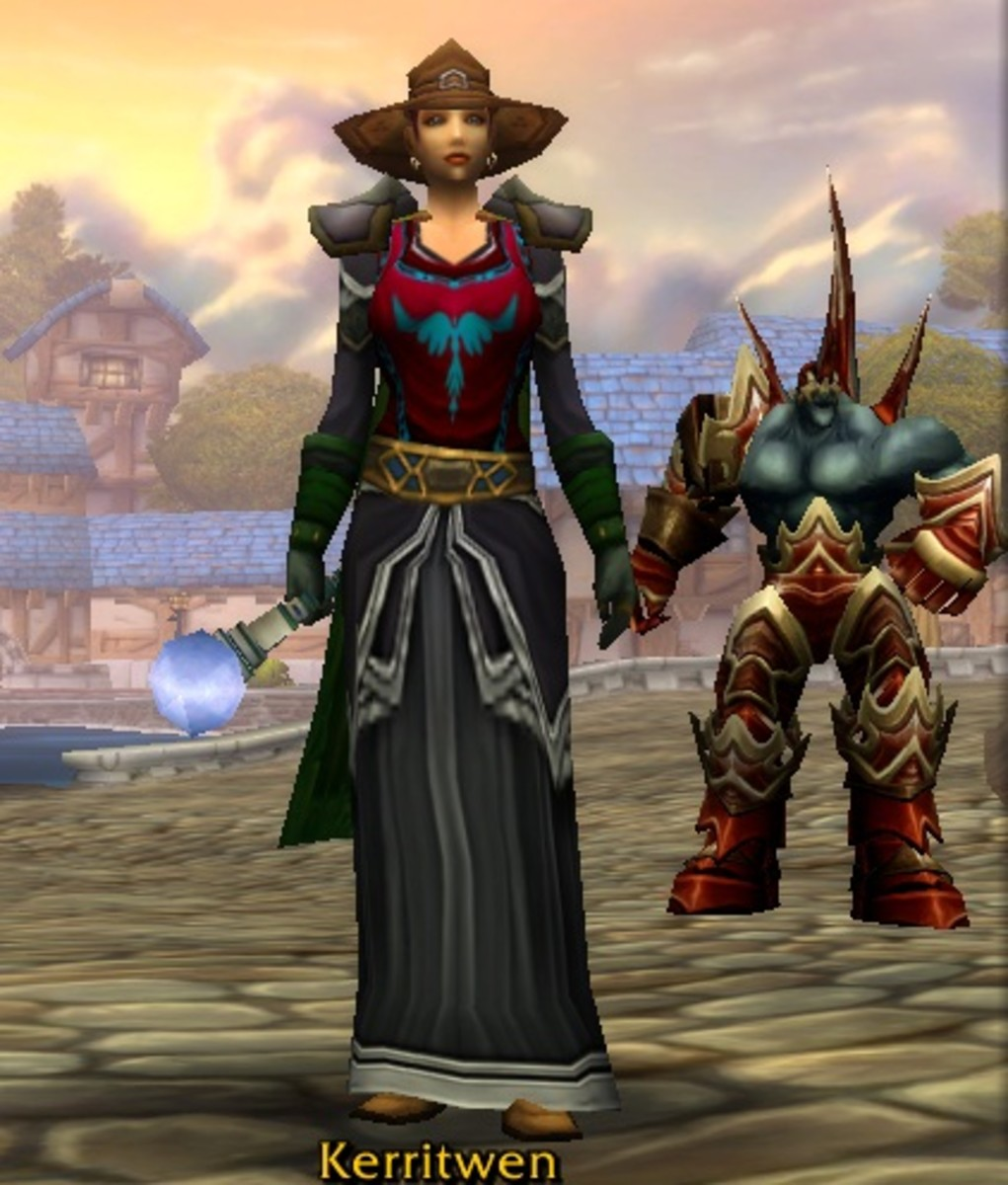 Human Warlock: one of my Alliance alts. Kerritwen is one variant spelling of Ceridwen.