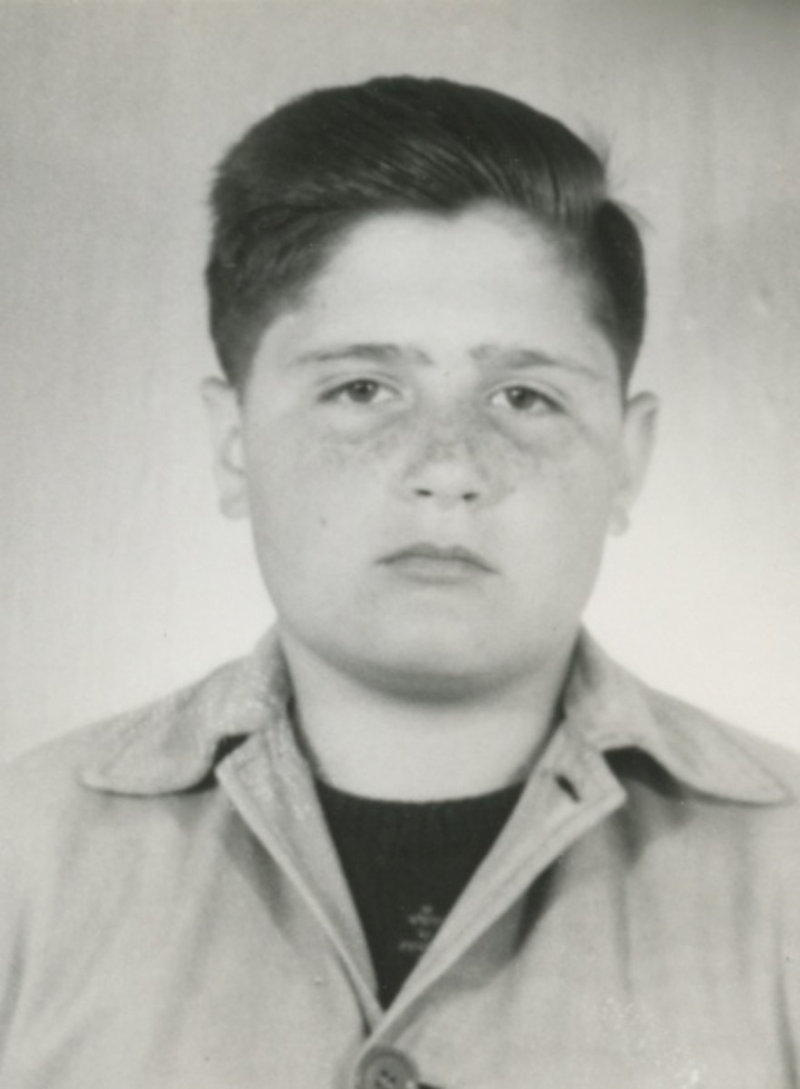 Kosta as a boy about 1949, when he was about 10.
