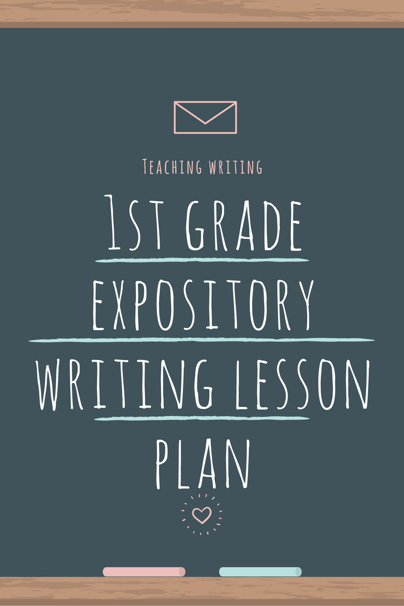 1st Grade Expository Writing Lesson Plan