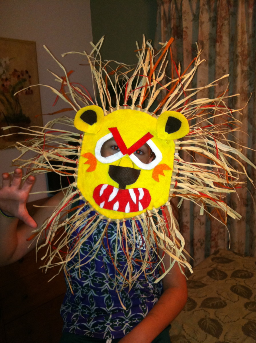 African Lion Mask Craft Project | HubPages