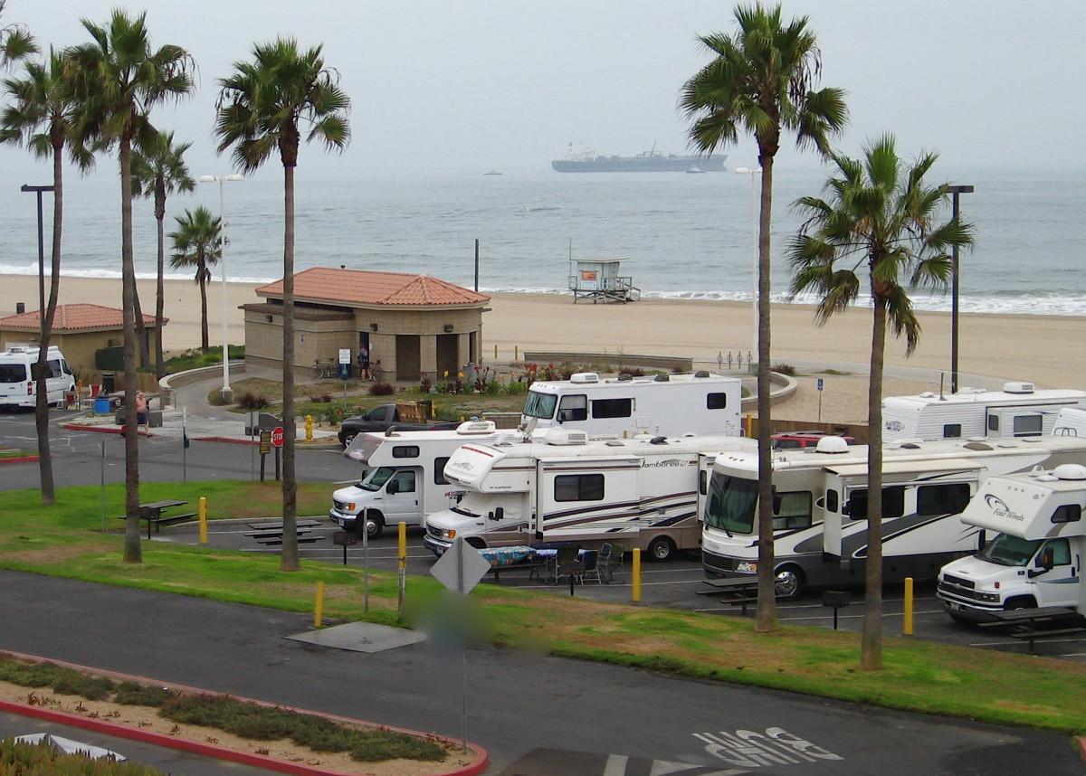 Dockweiler Beach RV Park, Los Angeles