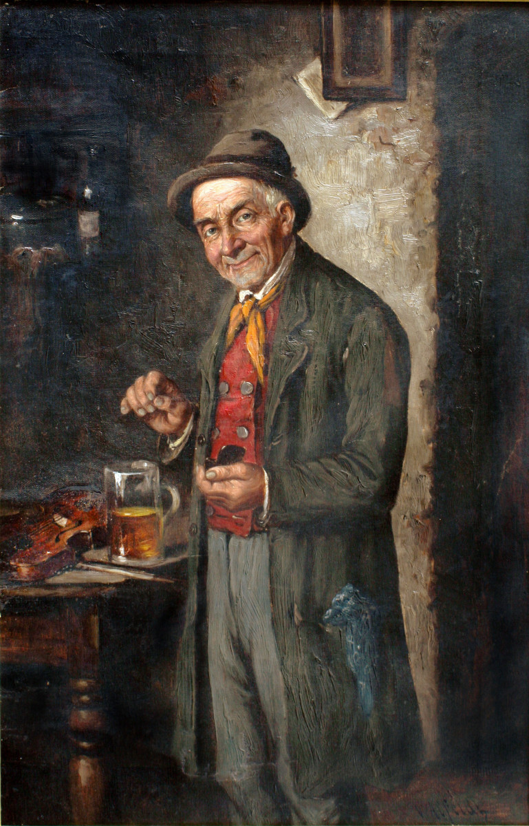 Irish folklore has been best preserved in rural areas - for example the Irish wake traditions of whiskey, snuff and music illustrated here.