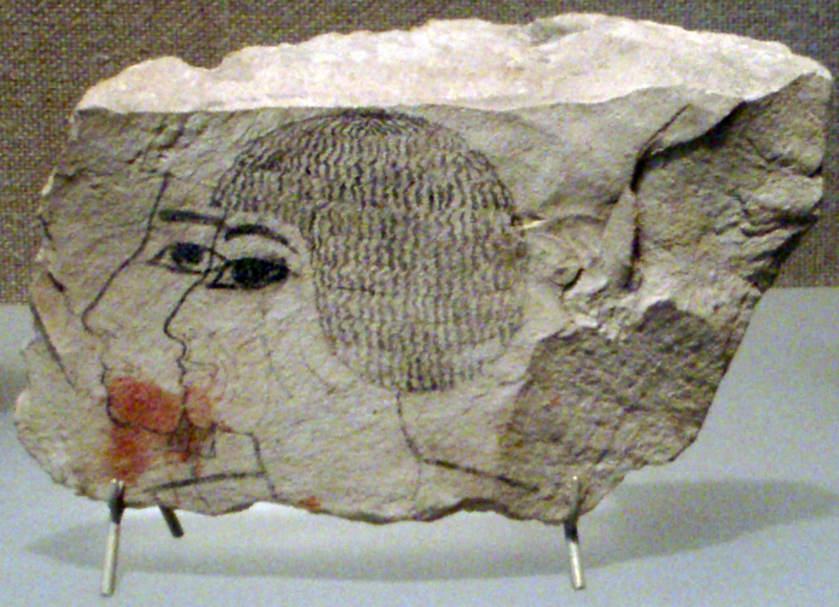 Ostracon thought to depict Senmut
