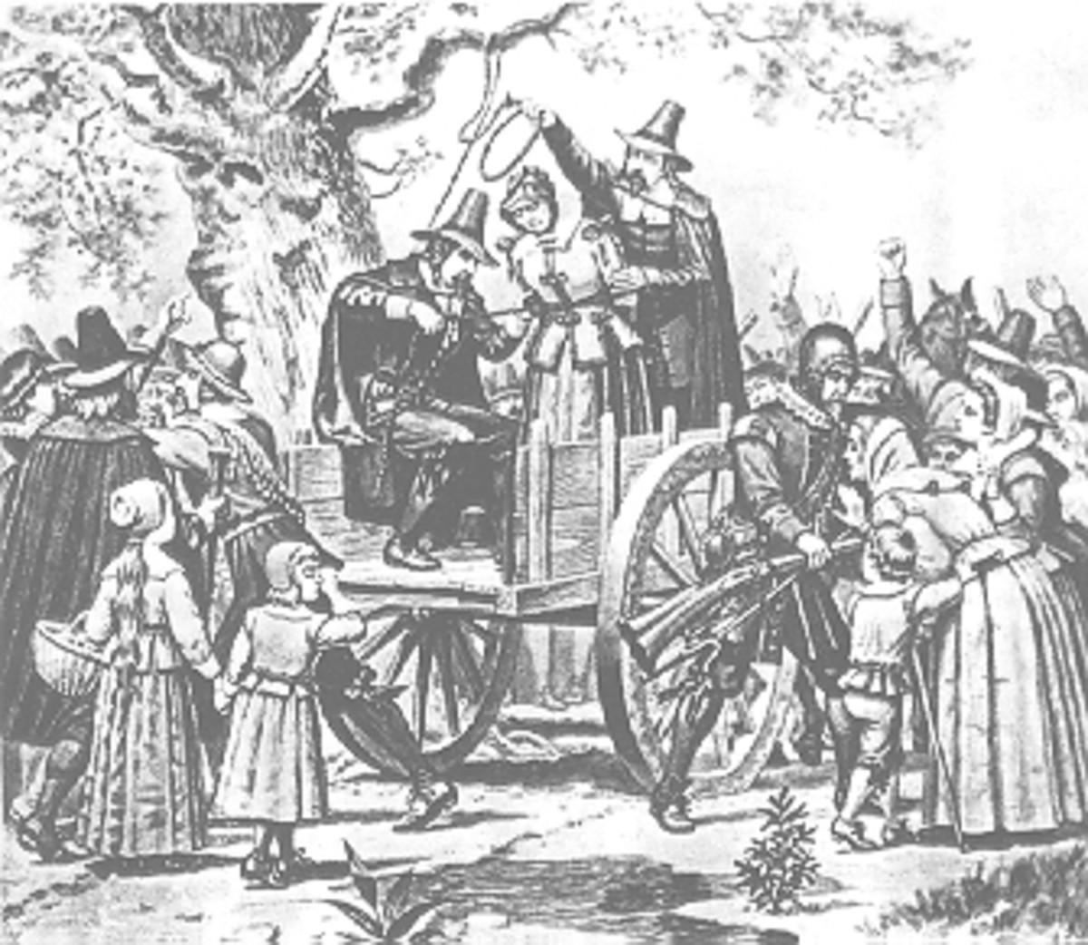 The Hanging of a Witch in 1692