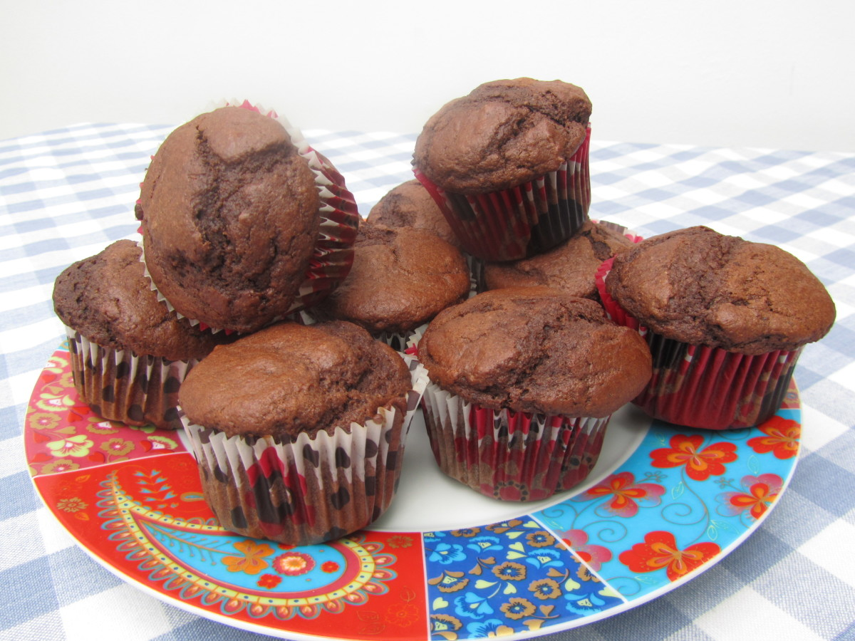 Chocolate muffins with no added sugar.
