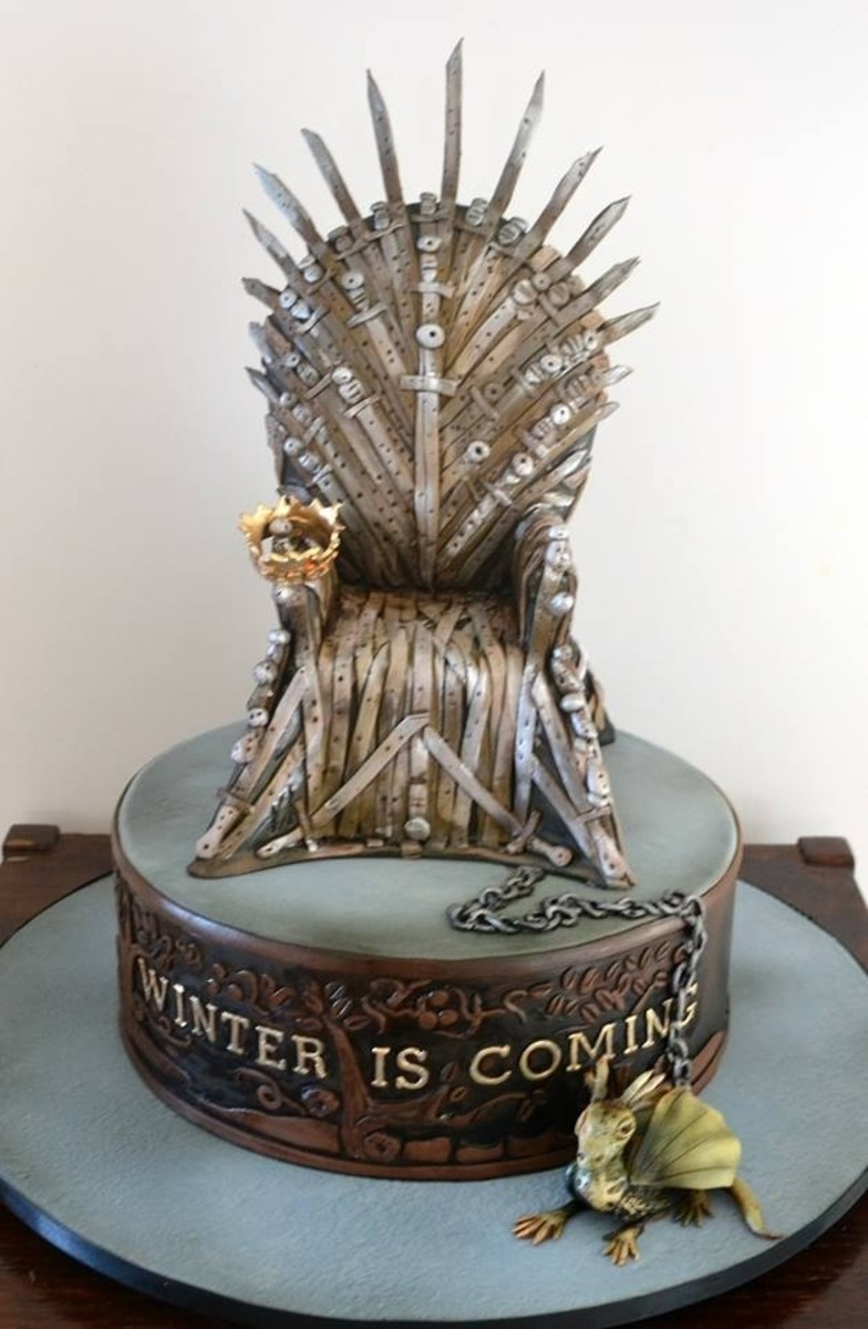 Game of Thrones wedding cake.