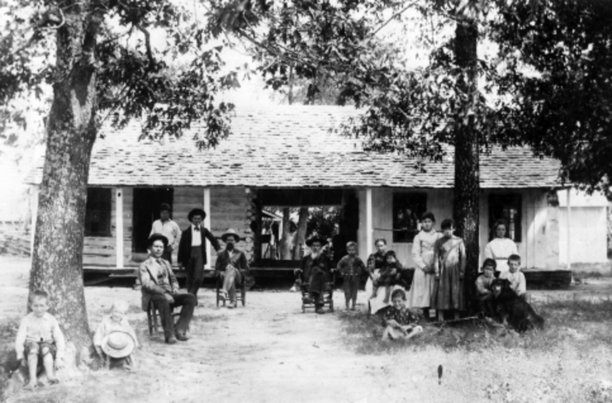 Skullyville Choctaw Agency Building 1880s