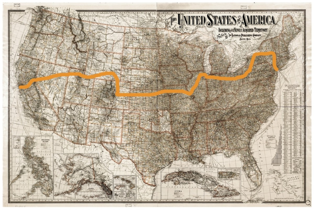 Weston's Transcontinental Map