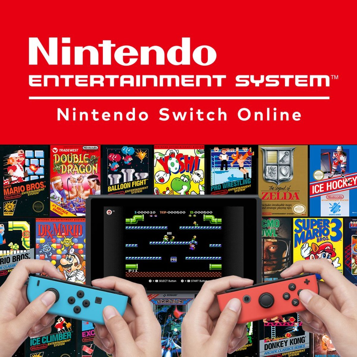 Promotional image for Nintendo Online's NES Emulator