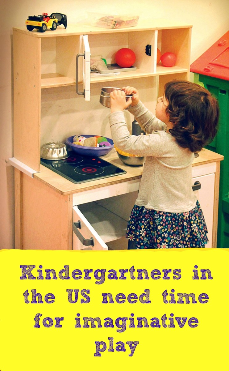 Moms and dads should see a play kitchen as a positive sign of a kindergarten program that values imagination.