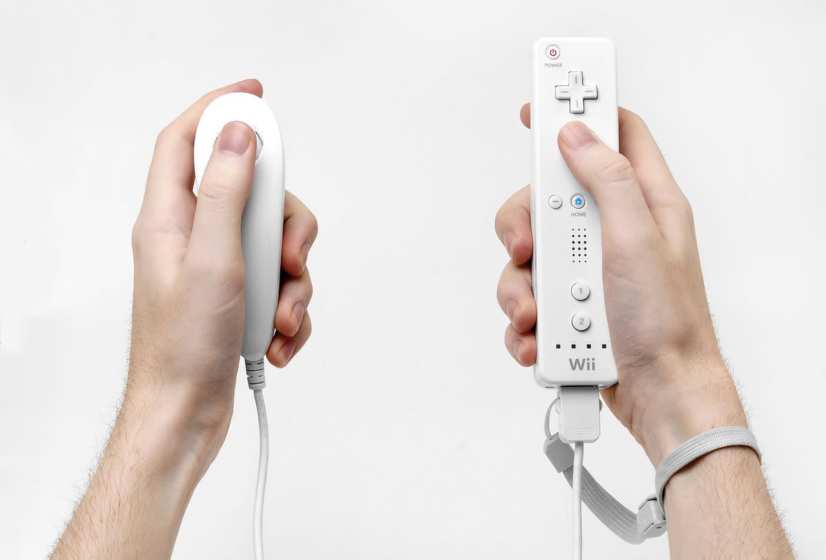 Wiimote and nunchuck.