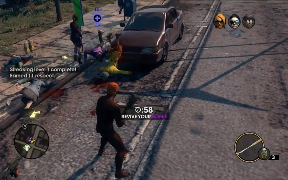 One of the more disturbing moments in Saints Row 3.