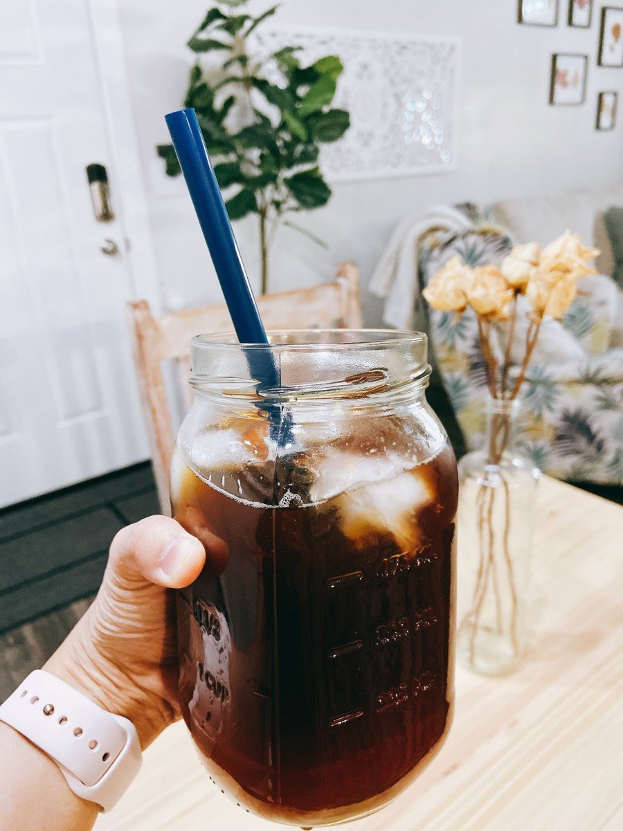 A glass of cold brew coffee is my perfect summer treat in the afternoon.
