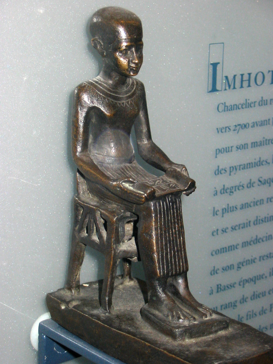 Statue of Imhotep in the Louvre, Paris