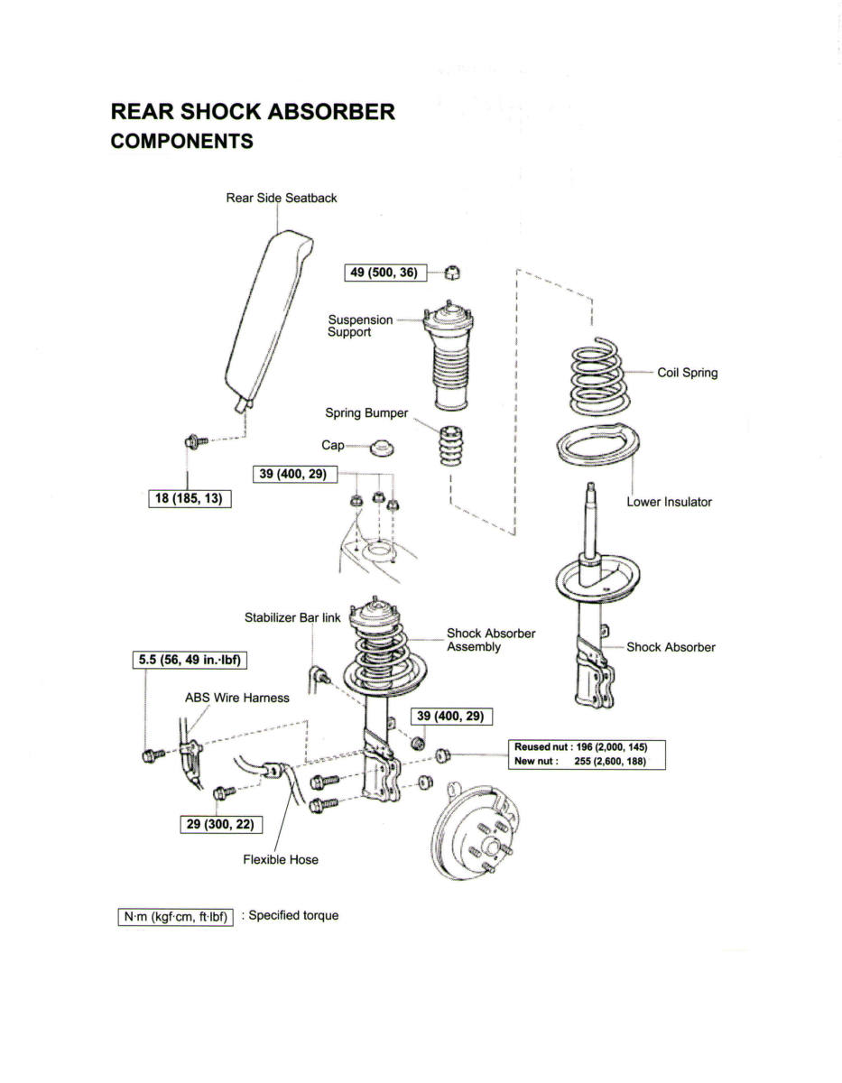 97 Toyota Brake Assembly Diagram