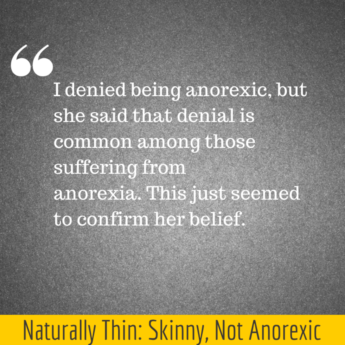 Naturally Thin: Skinny, Not Anorexic