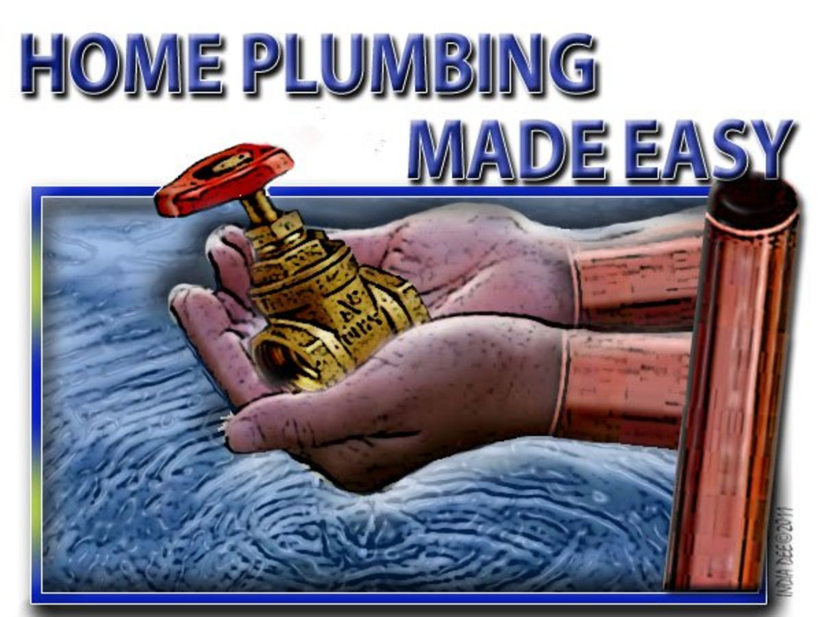 Home Plumbing Logo. Doing the work yourself when it comes to plumbing, can save big bucks!