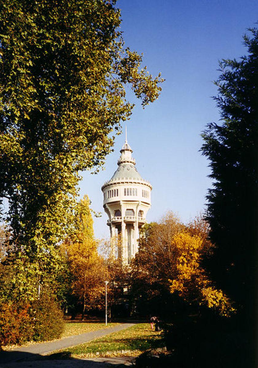 Margitsziget (Margaret Island) Water Tower in Budapest, Hungary