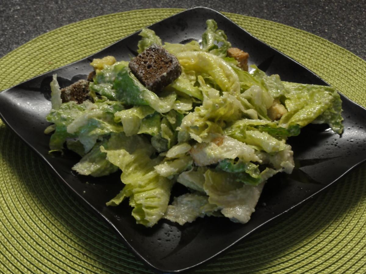 The world's best Caesar salad dressing