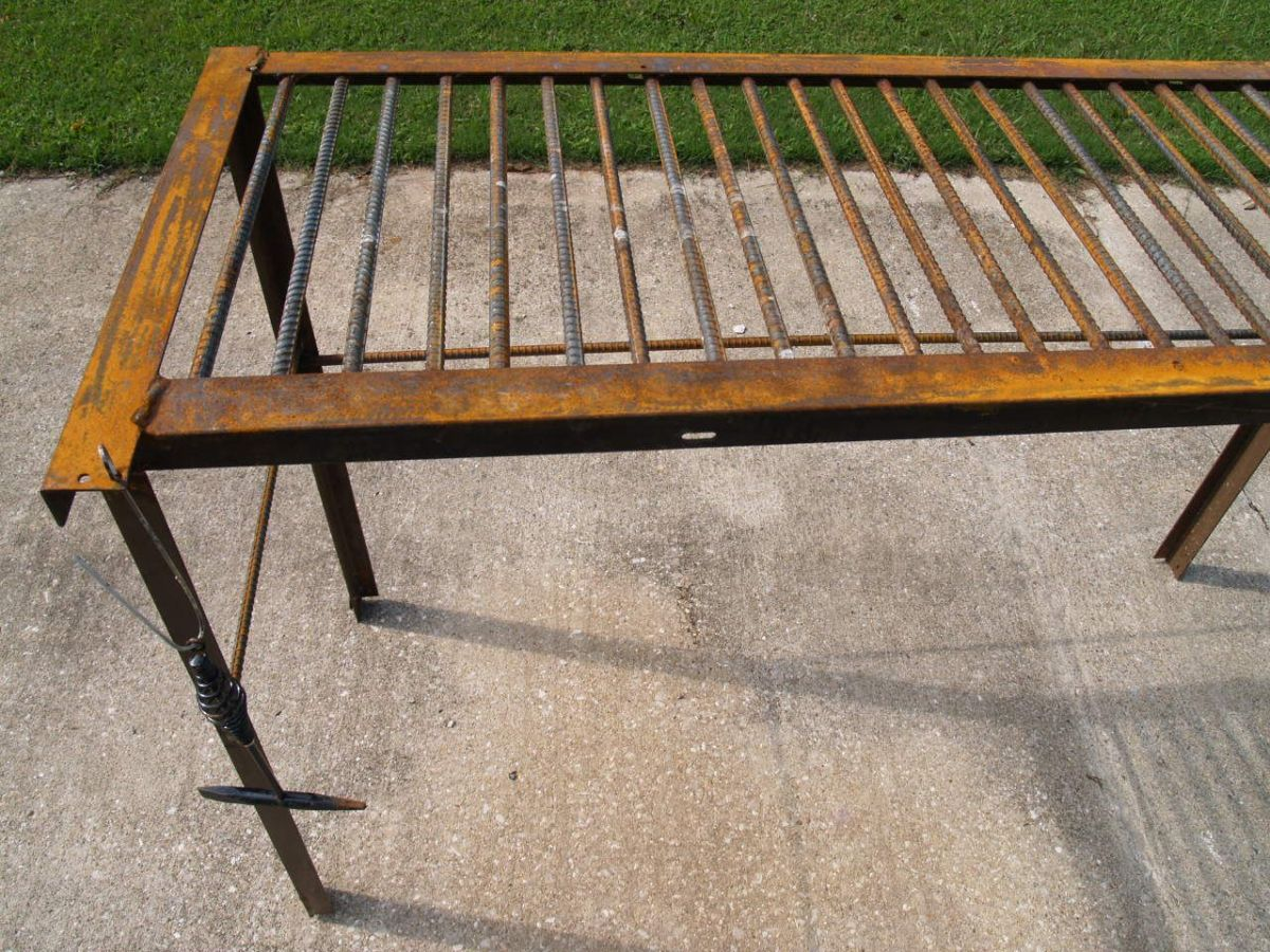 How to Build a Man-Size Welding Table From Rebar and Used Bed-Frame Metal for Less Than Sixty Dollars