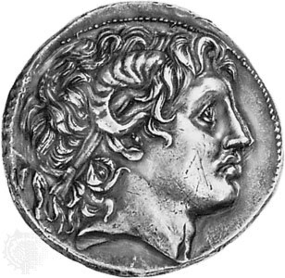 Alexander the Great on a coin