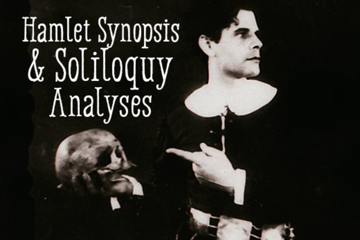an analysis of hamlets soliloquies in hamlet a play by william shakespeare Hamlet's soliloquy: to be, or not to be: that is the question (31) commentary unlike hamlet's first two major soliloquies, his third and most famous speech seems to be governed by reason and not frenzied emotion.