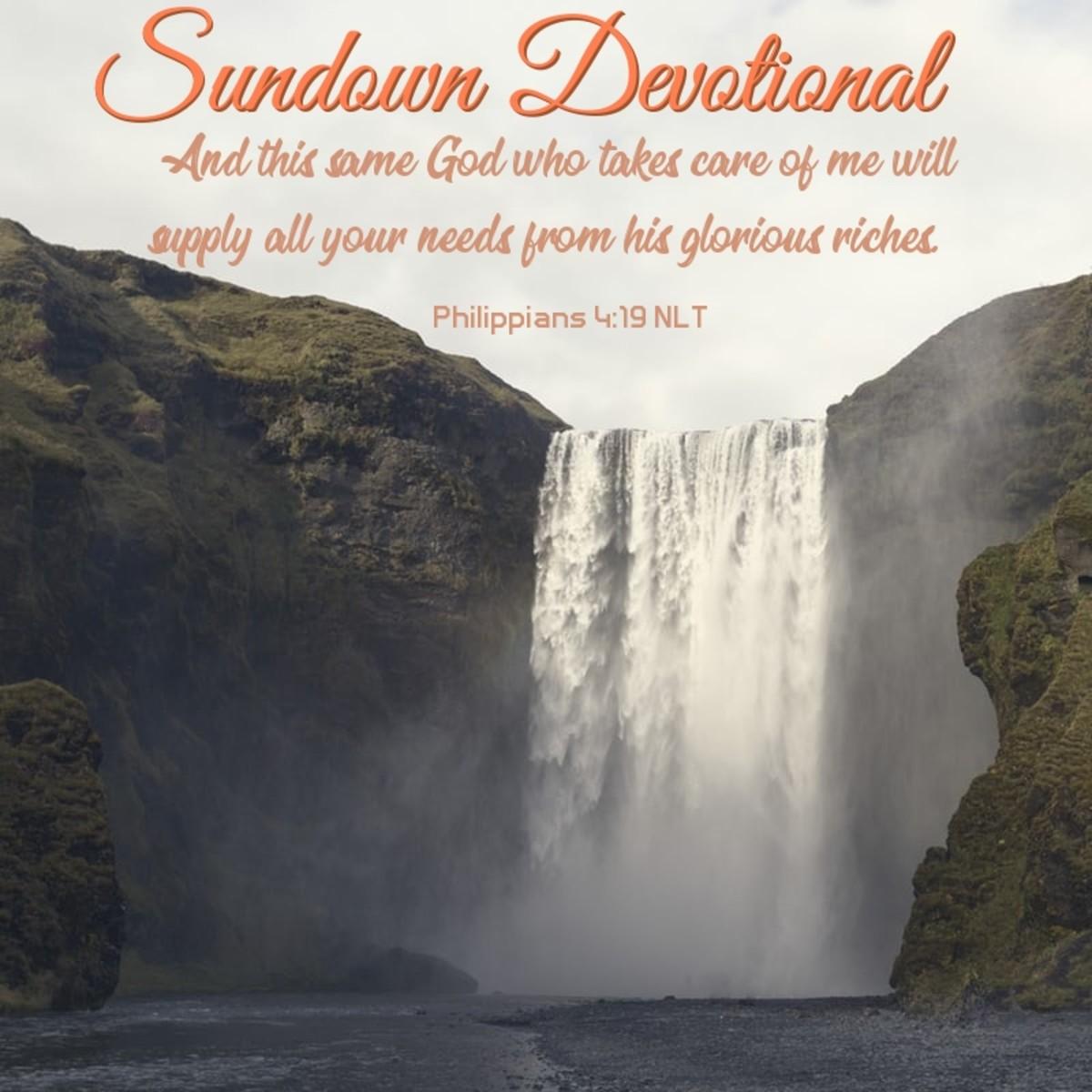 Sundown Devotional: God Provides According to His Riches