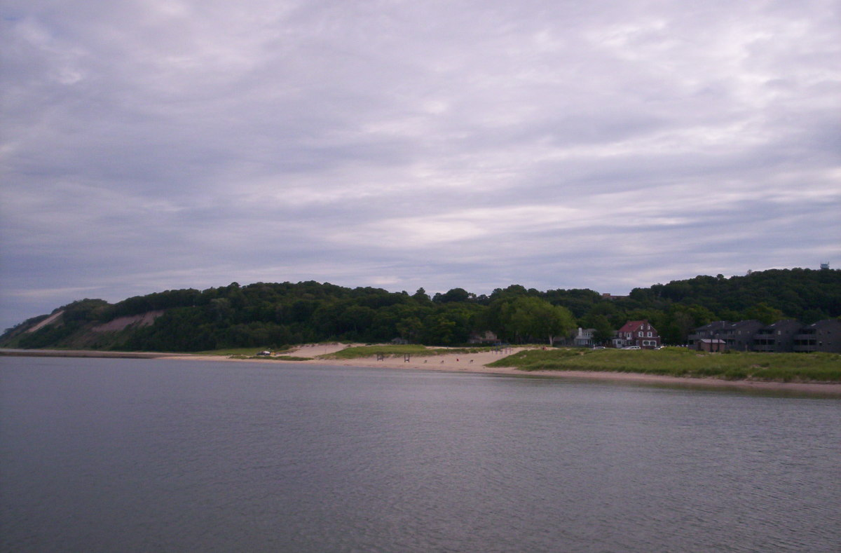 The Sleeping Bear Dunes provide beautiful views along the lakeshore.
