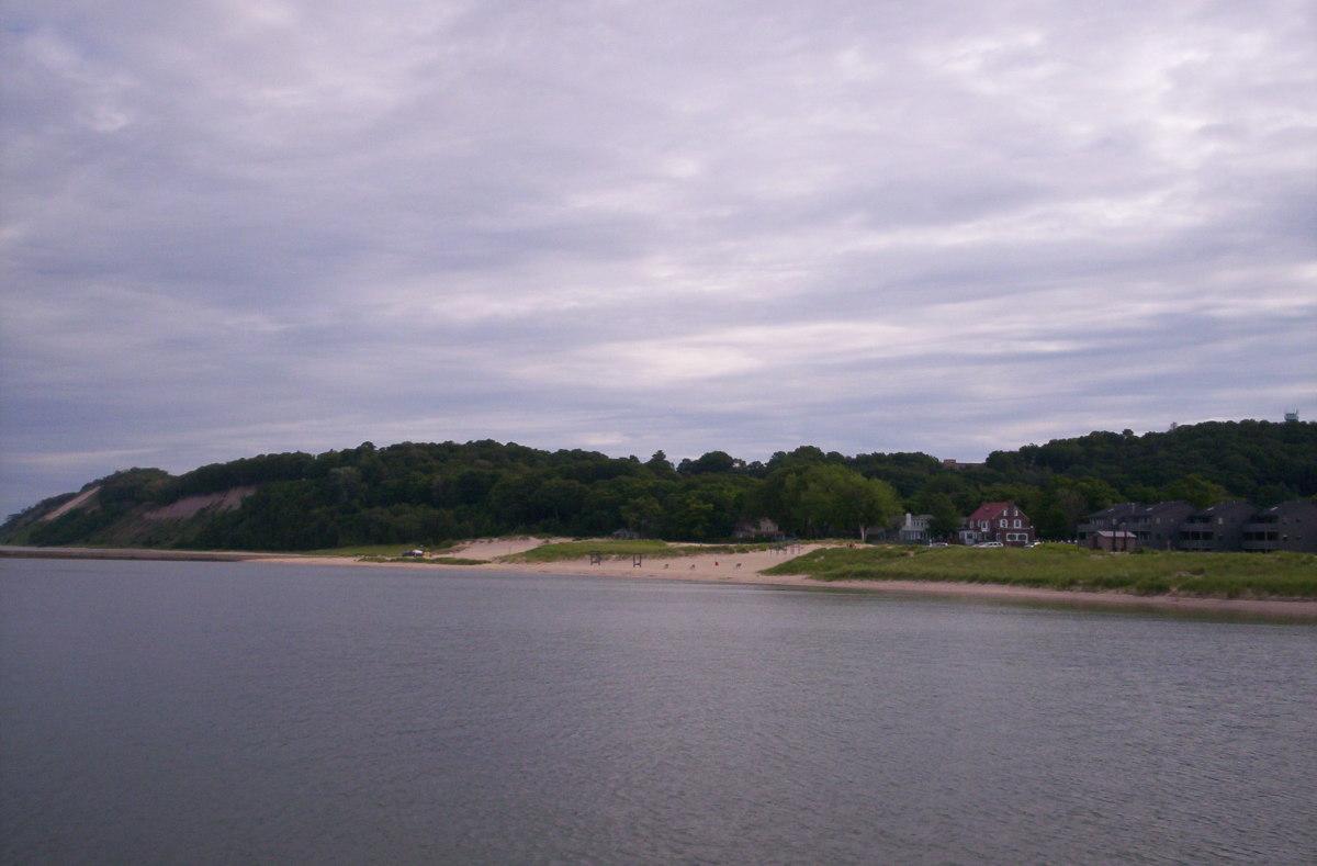 The Sleeping Bear Dunes provide beautiful views along the lakeshore.
