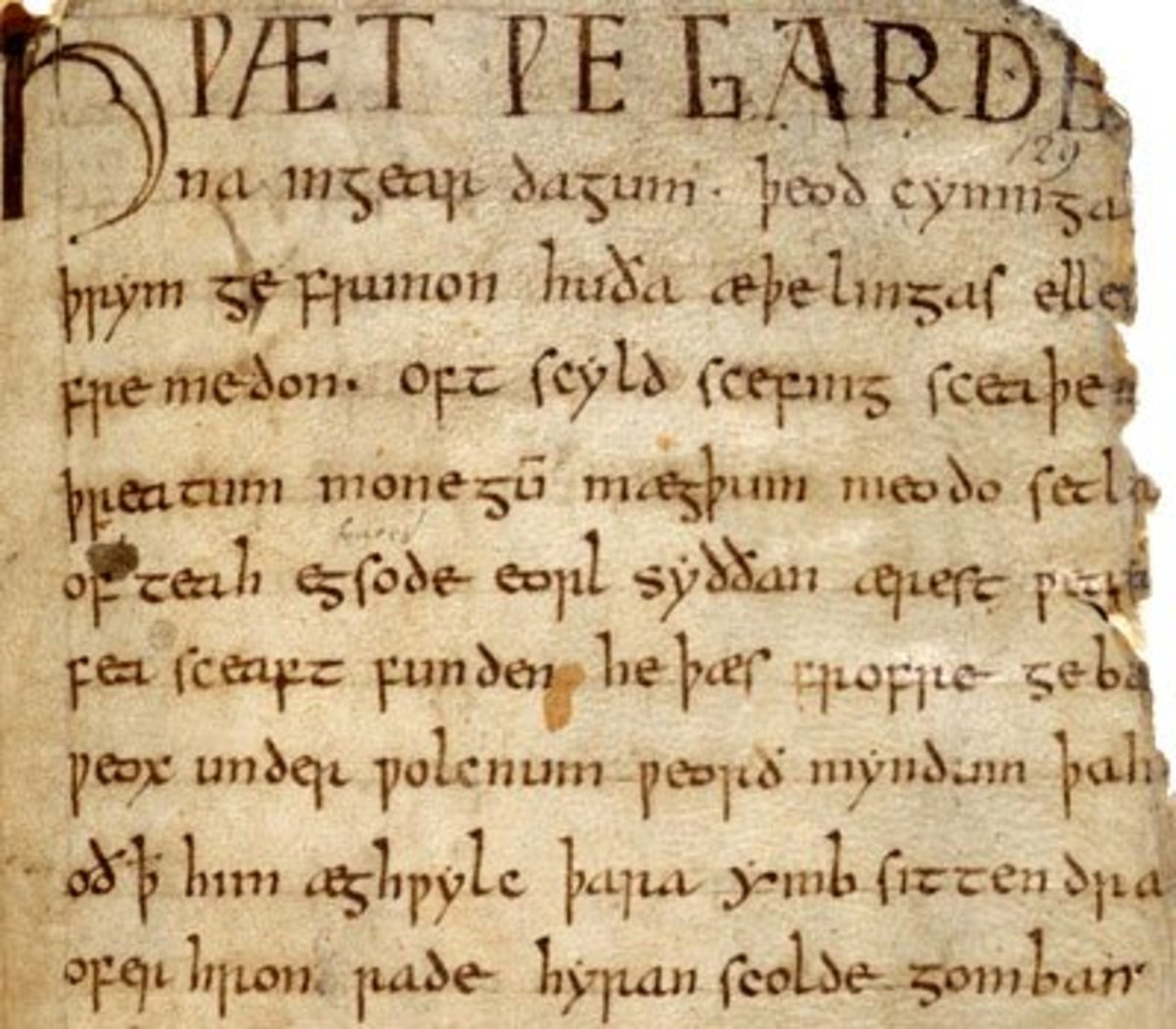 The original text of Beowulf was partially destroyed by fire.