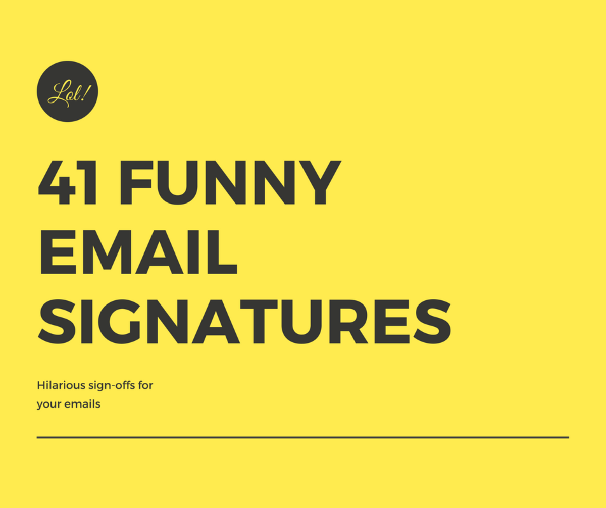 Funny Email Signatures & Sign-Offs
