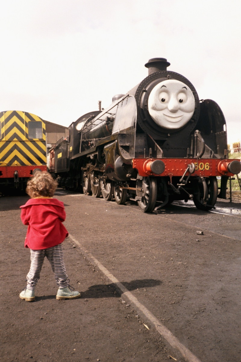 Kids and trains are a good mix