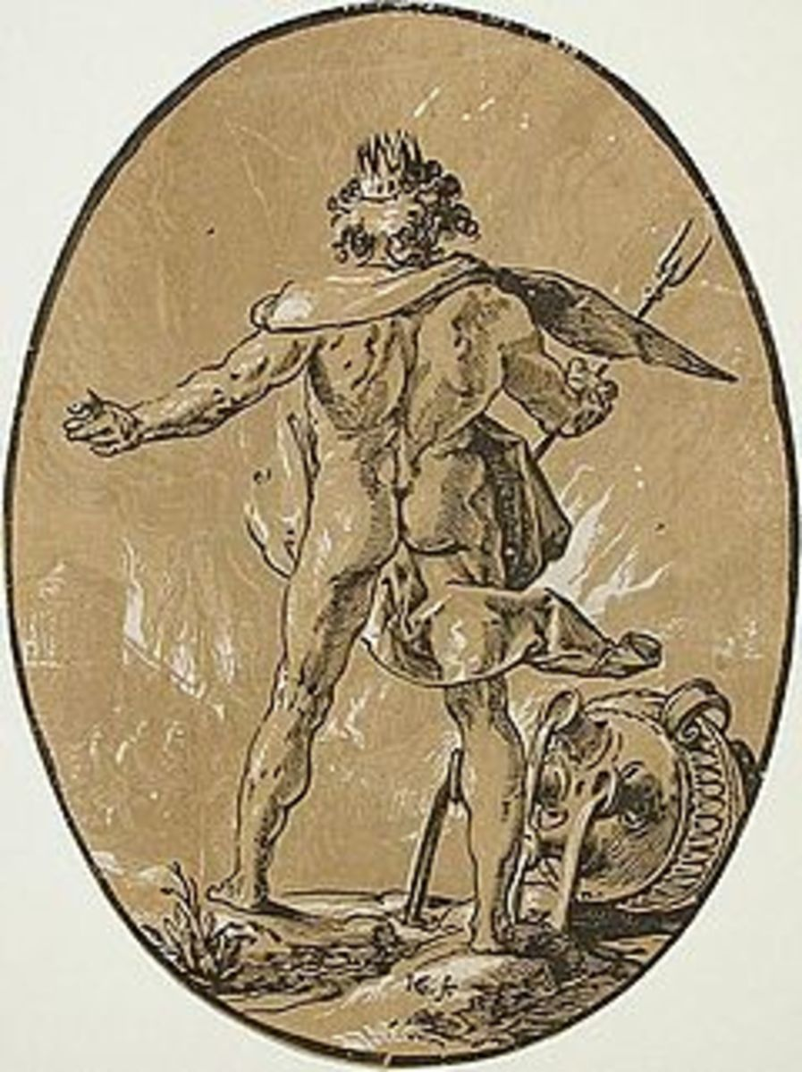 Pluto, Lord of the Underworld. Woodcut by Hendrick Goltzius (15581617)  Public domain, courtesy of Wikimedia Commons.