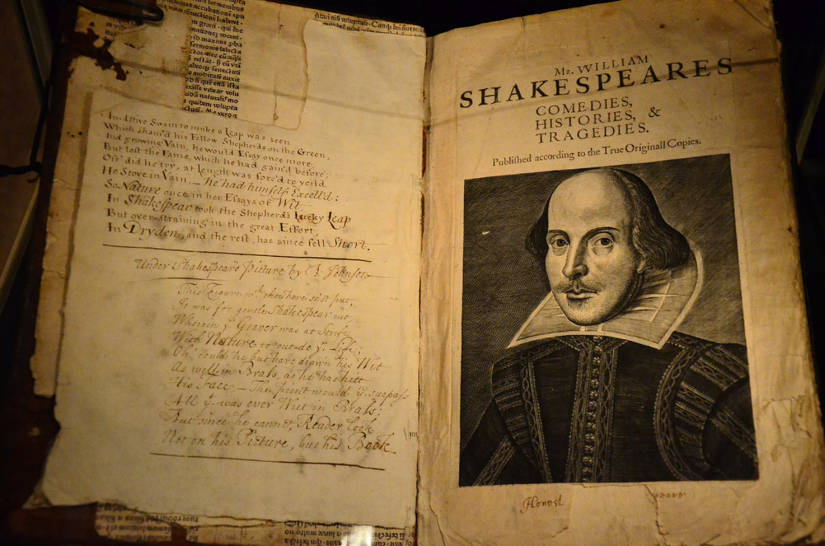 Pages of William Shakespeare's first folio at the  Bodlean Library, Oxford.