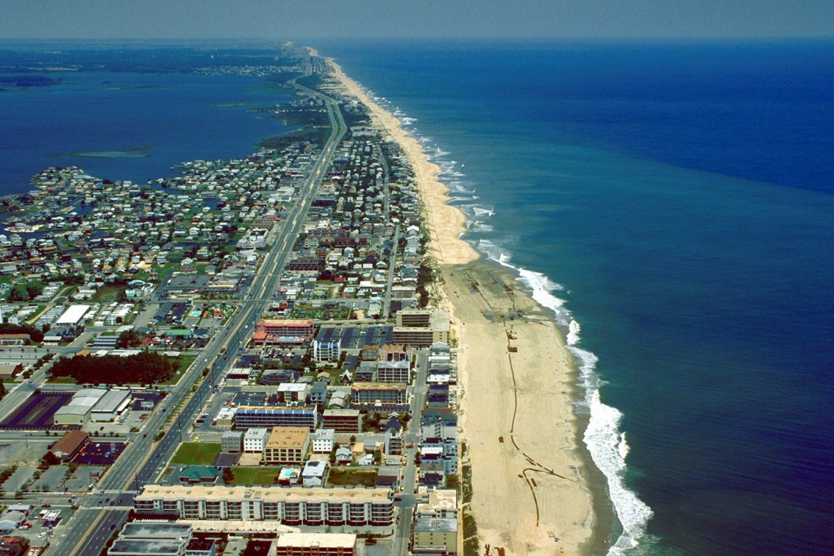 Ocean City Maryland from above.