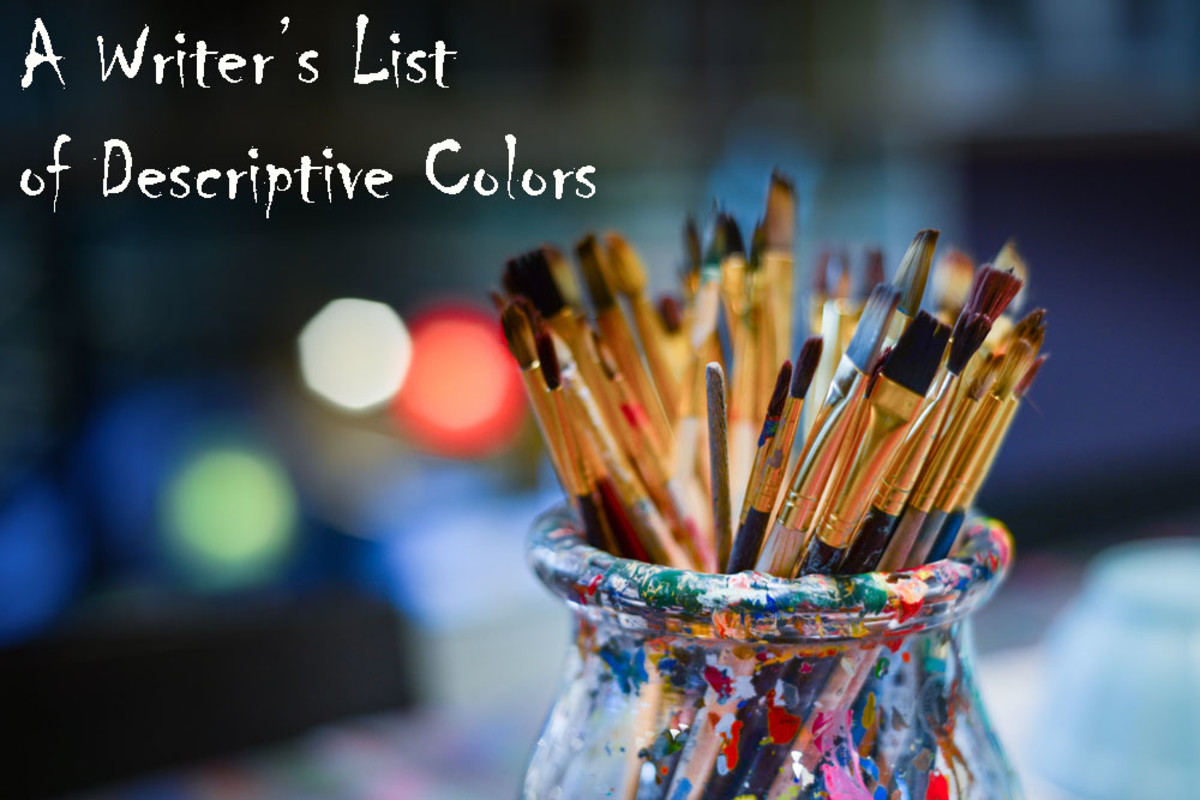 A Writer's List of Descriptive Colors