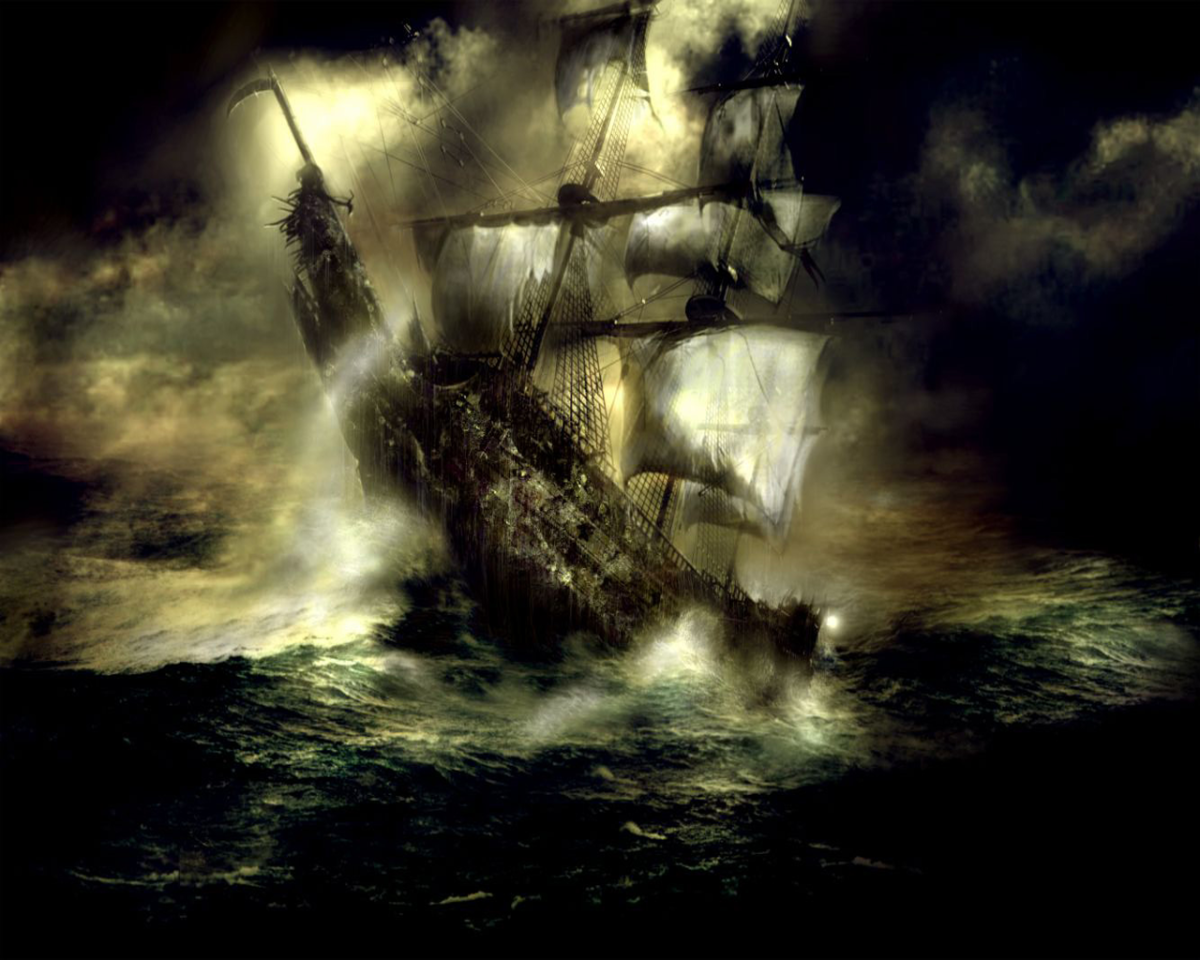 Some legends say Davy Jones was captain of the famous Flying Dutchman.