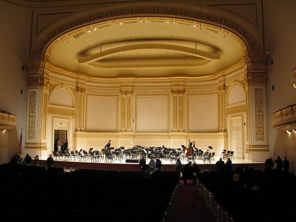 The main performance space at Carnegie, Isaac Stern Auditorium, named in 1997 honor of the beloved violinist.  (Stern died in 2001.)