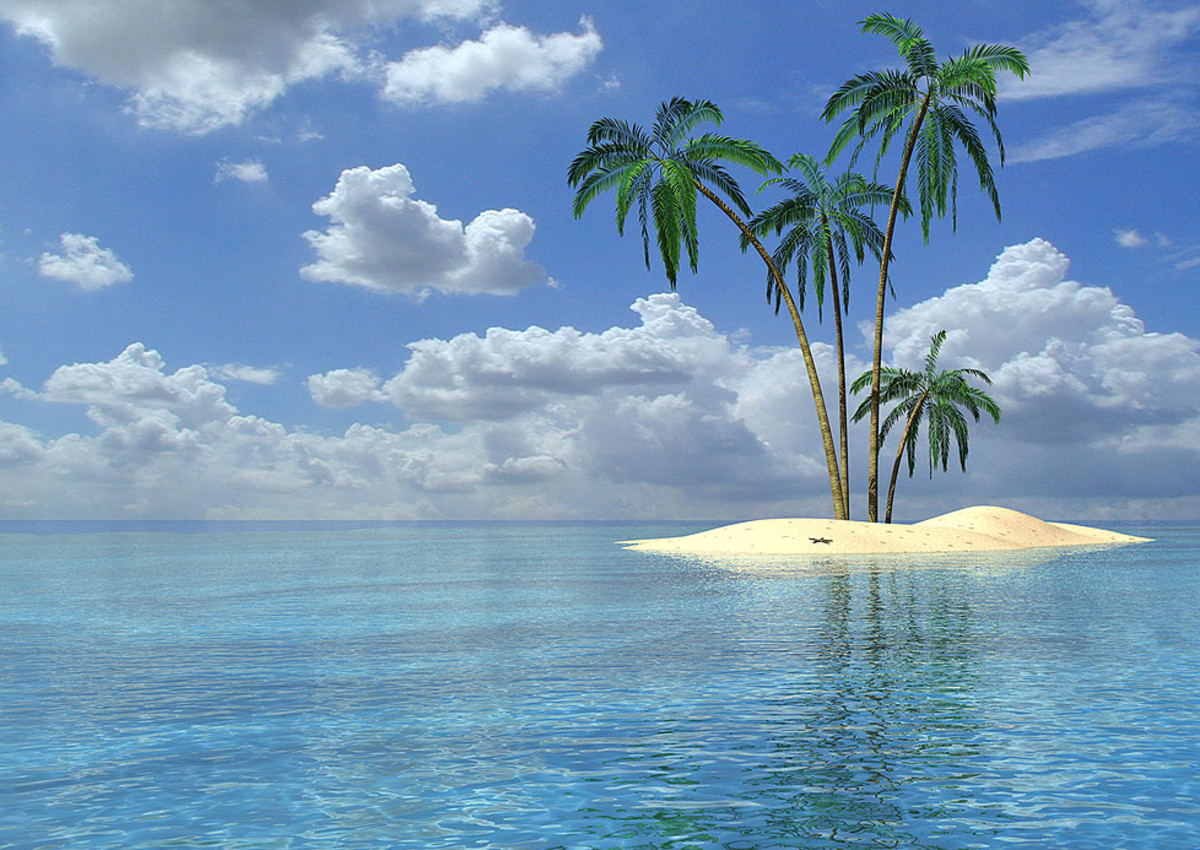 Top Ten Things to Have on a Deserted Island:  Desert island, tropical paradise - could you survive if you were marooned