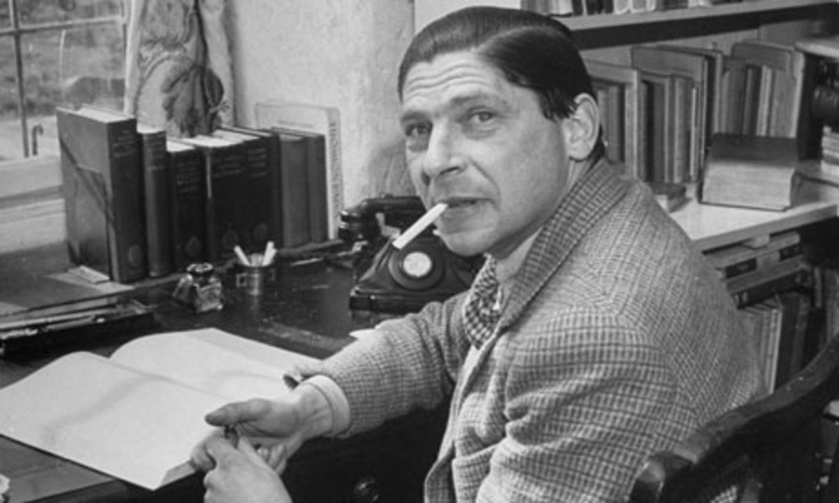 Arthur Koestler at work